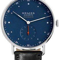 NOMOS Metro Neomatik Steel 38.5mm Blue Arabic numerals
