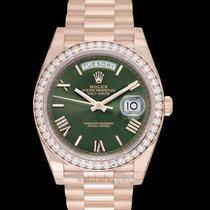 Rolex 228345RBR Ruzicasto zlato Day-Date 40 40mm nov