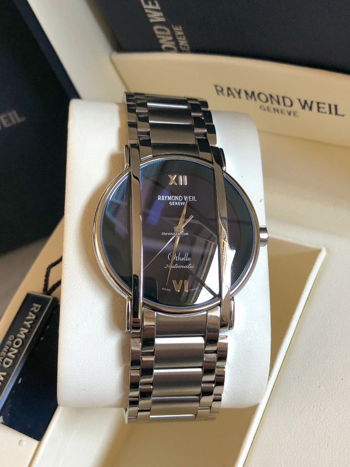 Raymond Weil Othello Blue Dial Date Stainless Steel