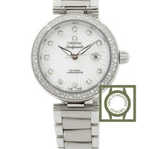 Omega LadyMatic Co-Axial 34 Stainless Steel Diamond MOP Bracelet