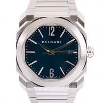Bulgari 38mm Automatic 2016 pre-owned Octo Blue