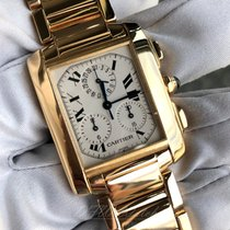 Cartier Tank Française Yellow gold 35mm White Roman numerals United States of America, Texas, Frisco