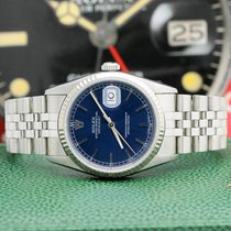 Rolex Datejust Zeljezo 36mm Plav-modar Bez brojeva