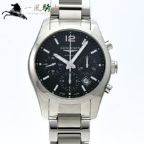 Longines Conquest Classic Stal 41mm Czarny
