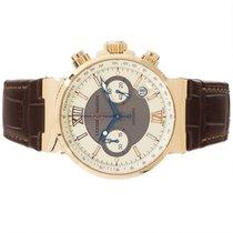 Ulysse Nardin 356-66-3/319 Pозовое золото Marine Chronograph 41mm подержанные