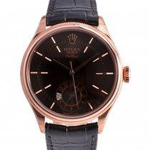 Rolex Cellini Dual Time Rose gold 39mm Brown No numerals UAE, Dubai