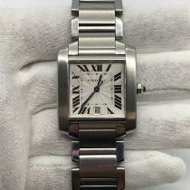 Cartier Tank Française Steel 28mm Silver Roman numerals United States of America, New York, New York
