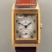 Jaeger-LeCoultre Or rouge Remontage manuel Argent Arabes 36,6mm occasion Reverso (submodel)