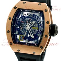Richard Mille new Automatic Skeletonized Display Back Center Seconds Luminescent Numerals Luminescent Hands 50mm Rose gold Sapphire crystal