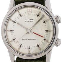 Tudor Heritage Advisor pre-owned 34mm Silver Alarm