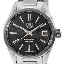 TAG Heuer Carrera Black Dial Automatic 28mm Steel Women Watch...