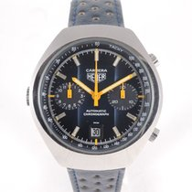 TAG Heuer Carrera Vintage 110'573B blue dial left handed.