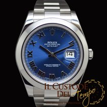 Rolex Datejust II 116300 Blue Roman Dial