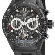 TAG Heuer Carbone Chronographe Remontage automatique 45mm Carrera Heuer-02T