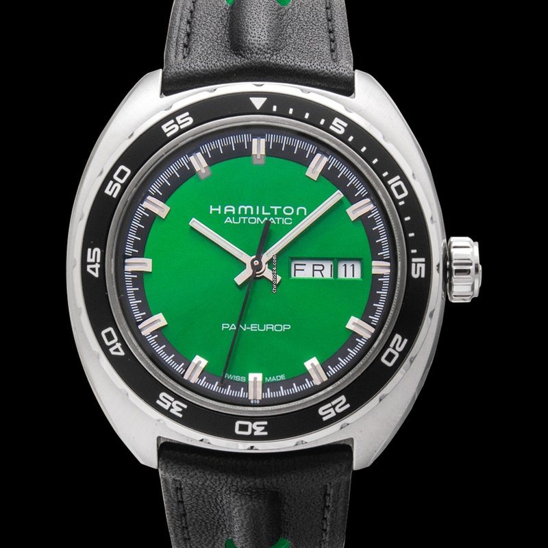 Hamilton American Classic Automatic Green Dial Stainless Steel Men S