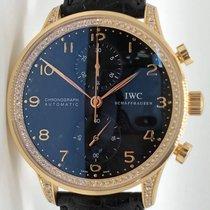 IWC Portuguese Chronograph Yellow gold 41mm Black Arabic numerals