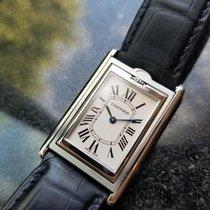 Cartier Men's Tank Basculante Reversible XL 2390 Hand-wind...
