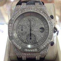 Audemars Piguet White gold Automatic 42mm pre-owned Royal Oak Offshore Chronograph