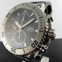 Oris Aquis Titan Chronograph Titanium 46mm Grey No numerals