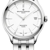 Baume & Mercier Clifton Steel 40mm White