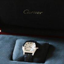 Cartier Tortue Platin 34mm Silber Römisch