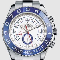 Rolex Steel Automatic White No numerals 44mm new Yacht-Master II