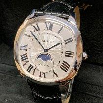 Cartier Drive de Cartier Stal 40mm Srebrny Rzymskie