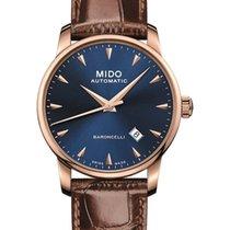 Mido Baroncelli Acier 38mm Bleu Sans chiffres