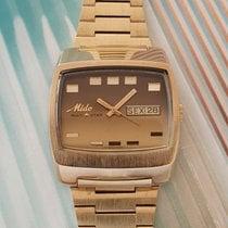 Mido Gold/Stahl 38mm Automatik Vintage NOS Mido Muli Star FCL 9509 - vnw neu