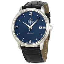Omega DeVille Prestige Blue Dial Automatic Mens Watch 424.13.4...