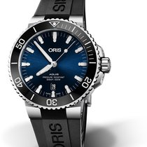 Oris DIVING AQUIS DATE Steel/Ceramic-Blue Dial-Black Rubber Strap