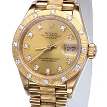 Rolex Oyster Datejust Lady Yellow Gold Bark Diamonds 26 mm (1986)