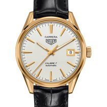 TAG Heuer Yellow gold Automatic Silver 39mm new Carrera Calibre 7