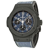 Hublot Big Bang Jeans pre-owned 44mm Blue Chronograph Date Rubber