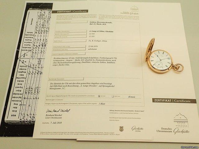 A. Lange & Söhne Schwere 1A Savonette 115g Diamant Zertifikat for S ...