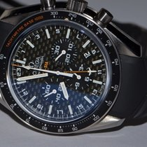 Omega Speedmaster HB-SIA pre-owned 44mm Black Chronograph Date GMT Rubber