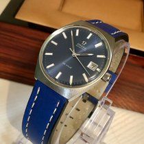 Omega De Ville Automatic mens 1969 vintage watch blue dial + box
