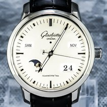 Glashütte Original 40mm Automatic pre-owned Senator Perpetual Calendar Silver