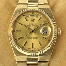 Rolex Day-Date Oysterquartz Or jaune 36mm Champagne Romain