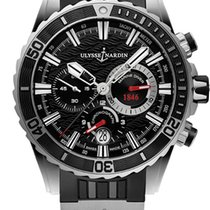 Ulysse Nardin Diver Chronograph Steel 44mm Black No numerals