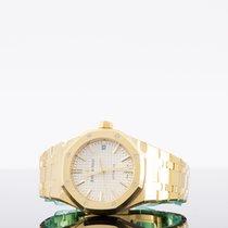 Audemars Piguet Royal Oak Selfwinding Oro amarillo 37mm Plata Sin cifras