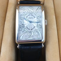 Franck Muller Crazy Hours White gold 32,5mm Silver Arabic numerals