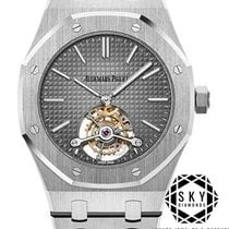 Audemars Piguet Royal Oak Tourbillon Platina 41mm Grijs