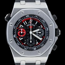 Audemars Piguet Royal Oak Offshore Chronograph Steel 44mm Black Arabic numerals