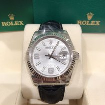 Rolex Datejust White gold 36mm Silver No numerals
