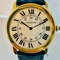 Cartier Ronde Solo de Cartier Yellow gold 36mm Silver Roman numerals United States of America, New York, NEW YORK