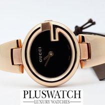 Gucci Pозовое золото Кварцевые Чёрный 27mm новые