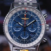 Breitling Navitimer B01 46mm Chronograph Automatic Blue Ab0127...