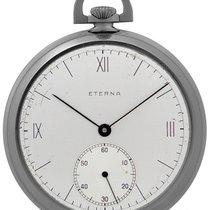 Eterna Reloj 1938 Acero 49.5mm Romanos Solo el reloj