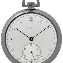 Eterna Watch pre-owned 1938 Steel 49.5mm Roman numerals Watch only